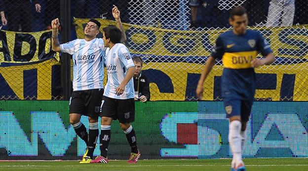 El goleador festeja en aquel inolvidable partido de 2014.