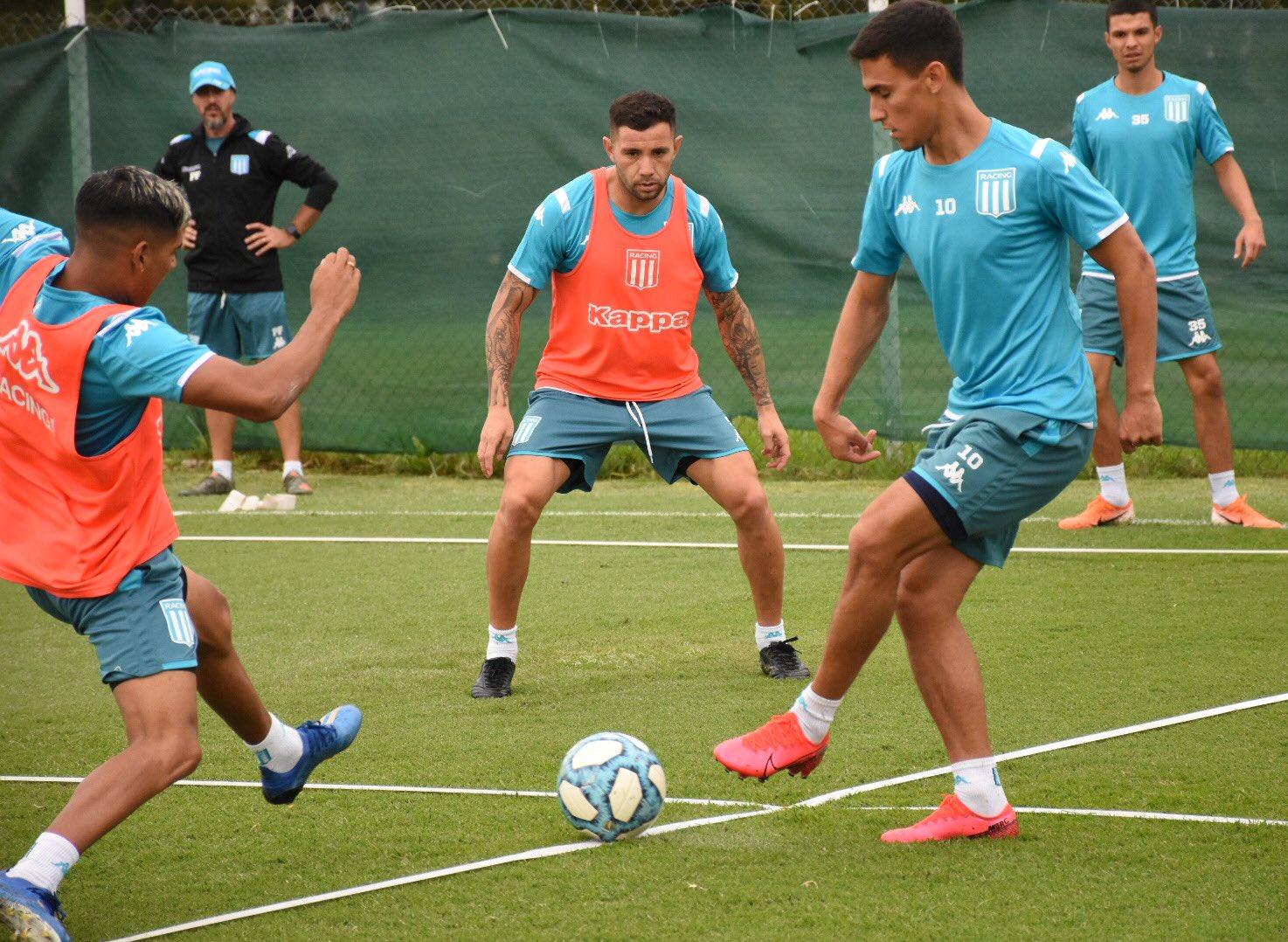 Beccacece haría varias modificaciones pensando en el debut de la Libertadores. Foto: Racing Club.