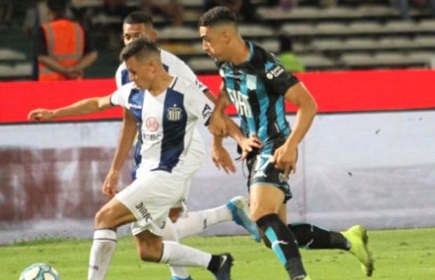 Rodríguez Bebanz en el único partido en Racing.