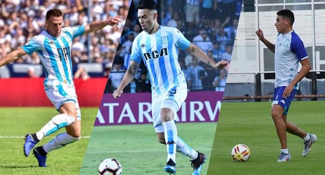 Pillud, Domínguez y Martínez se entrenan juntos.
