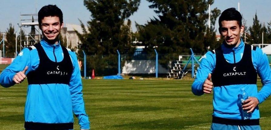 Soto y Banega ya trabajan con el primer equipo. Foto: Racing Club.