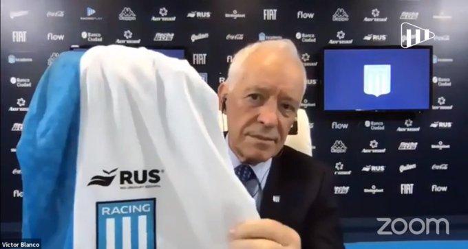 Víctor Blanco lo anunció por Racing Play.