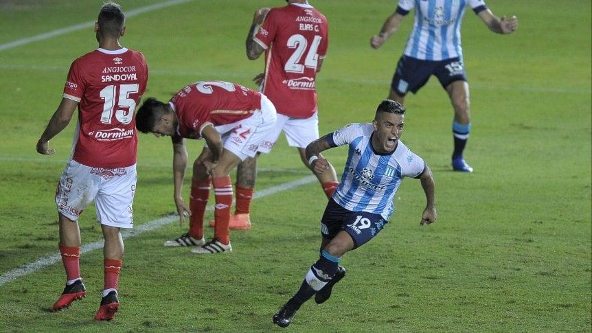 Miranda marcó su segundo gol en Racing.