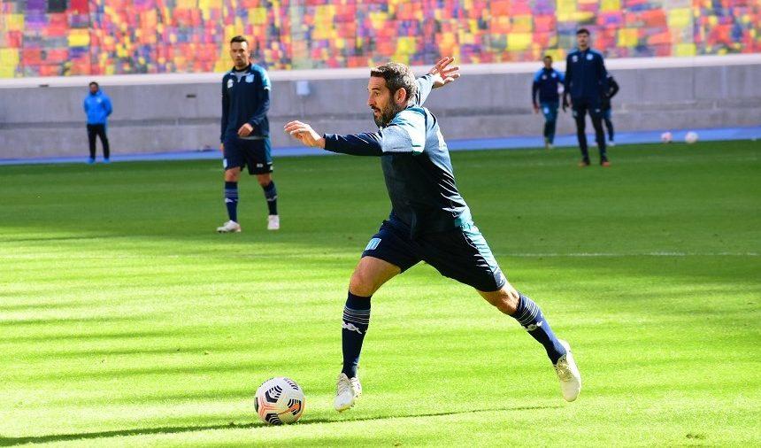 Lisandro fue titular en el segundo equipo. Foto: Racing Club.