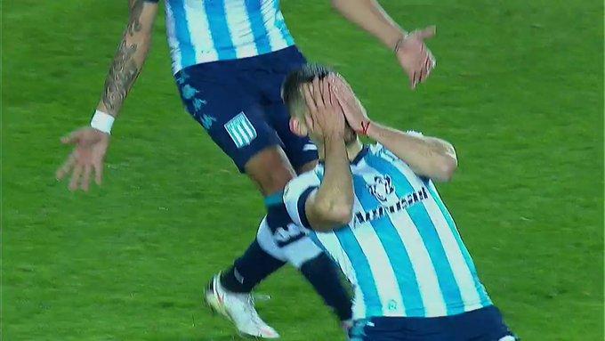 La emoción de Garré por su gol en su vuelta.