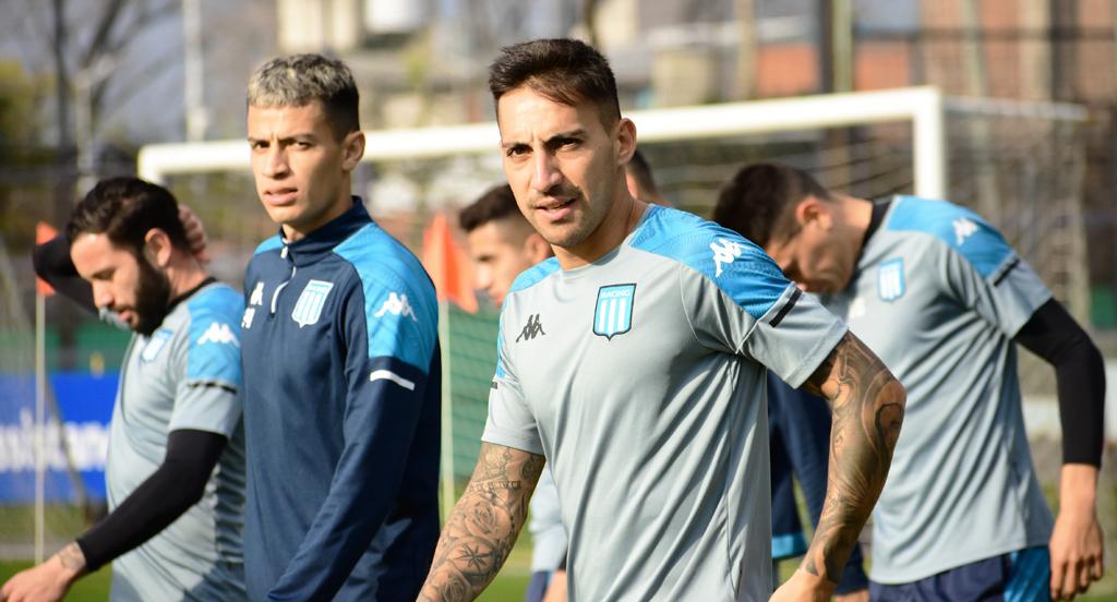 Meli y Correa se sumaron a los entrenamientos. Foto: Racing Club.